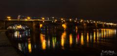 Augustusbrücke bei Nacht
