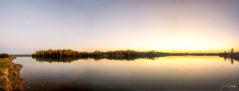 Ein Herbstabend am Störmthaler See